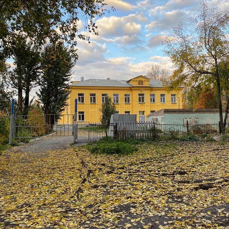 Поселок в октябре