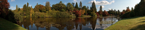 sheffieldparkgardens sussex eastsussex nationaltrust autumn autumn2020 manfrotto300n canonefs1585mmf3556isusm tree trees colour color autumncolor autumncolour lake water reflection reflections view sky bluesky cloud clouds weather panorama