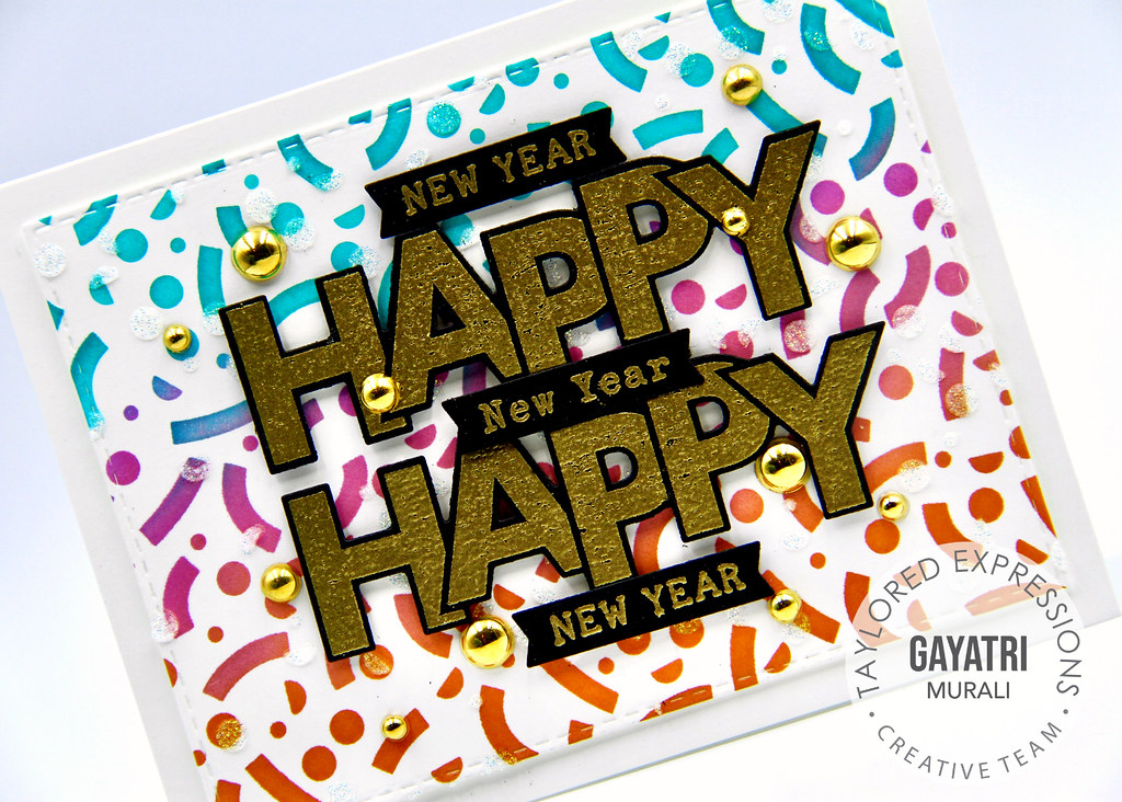New Year card #2 closeup