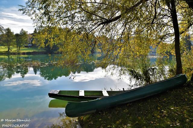 Belavići, Croatia - Autumn time on river Mrežnica...