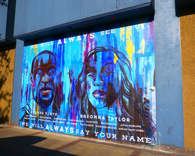 We Will Always Say Your Name mural in Eugene, Oregon