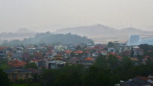 rain landscape neighbourhood fog foggy kualalumpur raining nikon nikkor z50