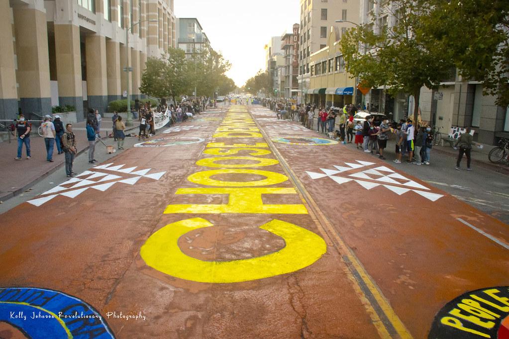 Street Blockade & Mural Painting
