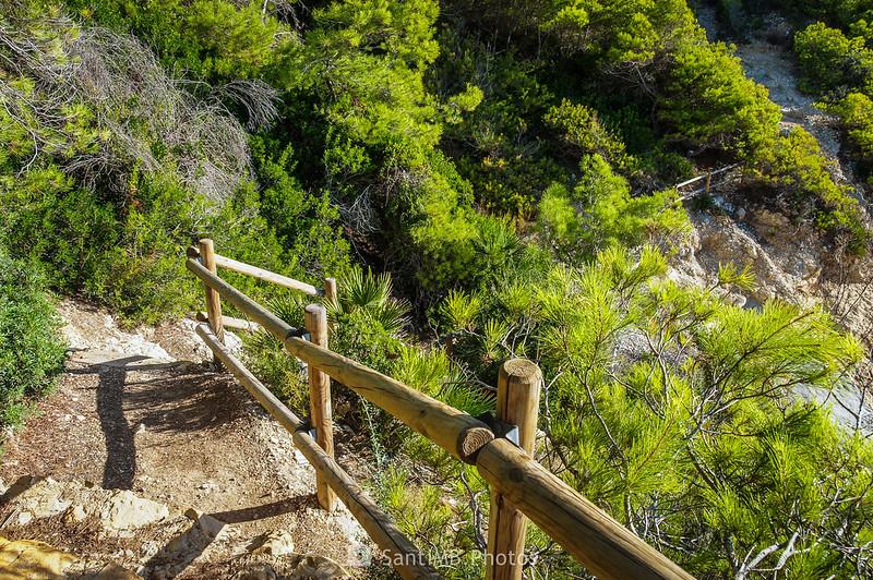 Escaleras del Camino de Ronda a la Cala Garretes
