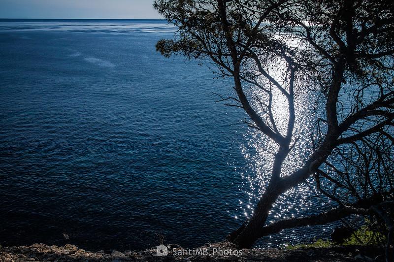 El Mediterráneo entre el Llosar de Cavaller y la Cala Garretes