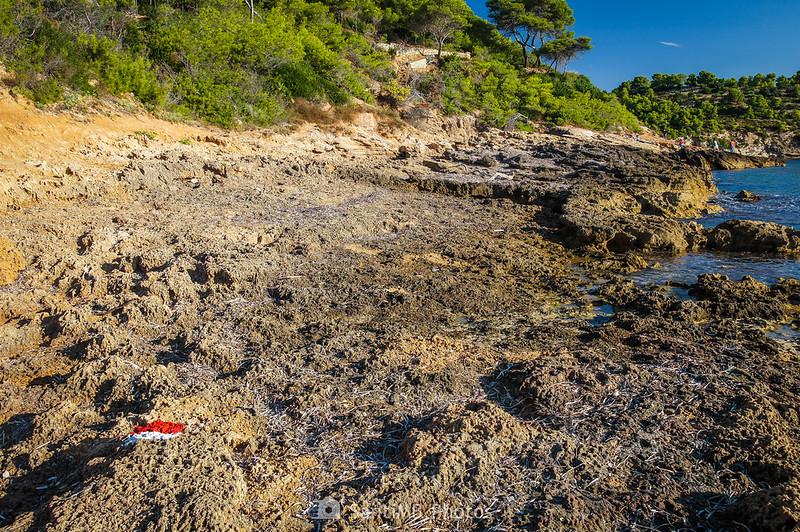Playa rocosa al lado de l'Adolç del Me