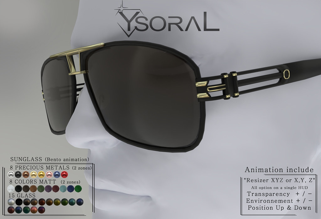 ~~ Ysoral ~~ .:Luxe sunglasses Dany :.(ANIMATION BENTO)