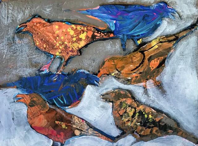Birds-Backyard Feeder