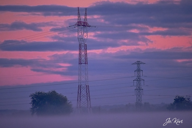 Esti alkony a ködben - Evening twilight in the fog (2020.10)