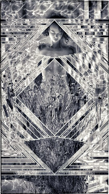 PRECIPITATION OF ALL SYMBOLS IN THE ARTERY OF THE MATRIX / THE FINAL / CHRISTELLE GEISER & AEON VON ZARK / NAKED EYE PROJECT BIENNE / ALTERED STATE SERIE / THE WEIRD DREAM / PORTRAIT.