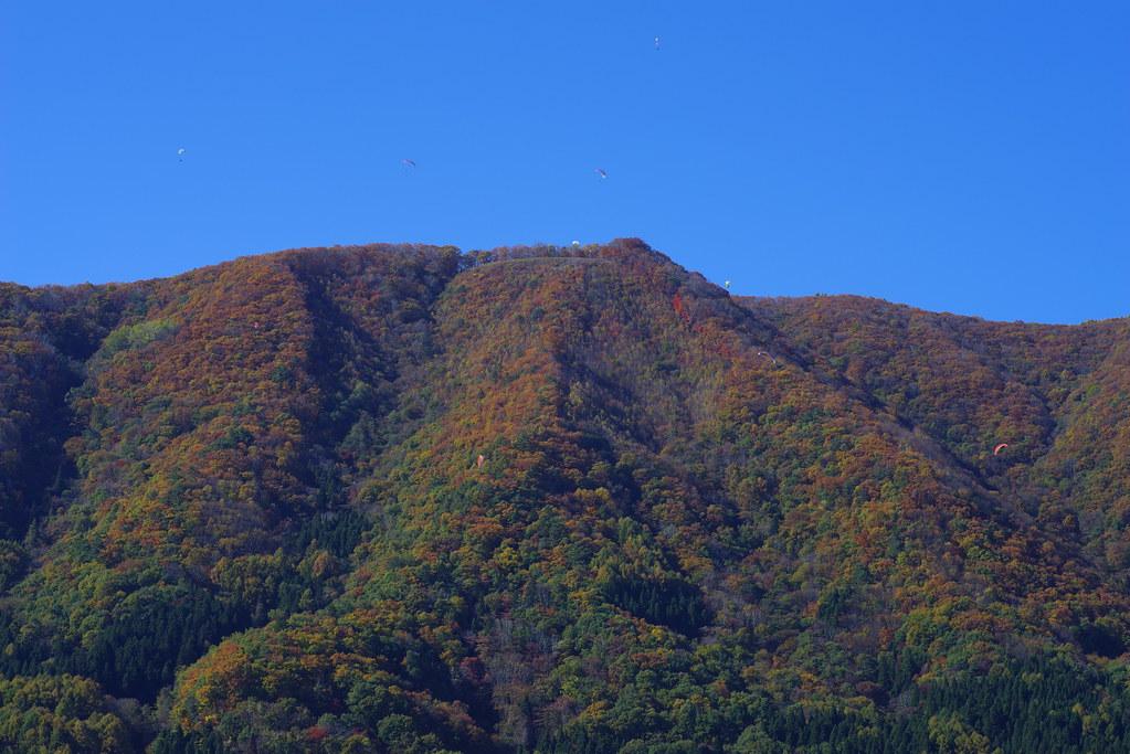紅葉:木崎湖