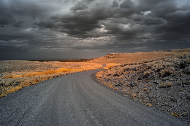 Winding Road Ahead - Steens Mountain, Oregon