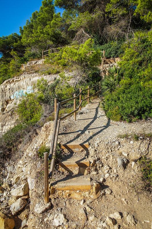Camino de Ronda en la Cala Garretes