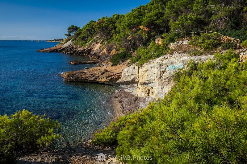 Costa del Perelló entre Cala Garretes y el Llosar de Cavaller