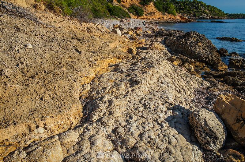Texturas de roca entre El Molar y l'Adolç del Me