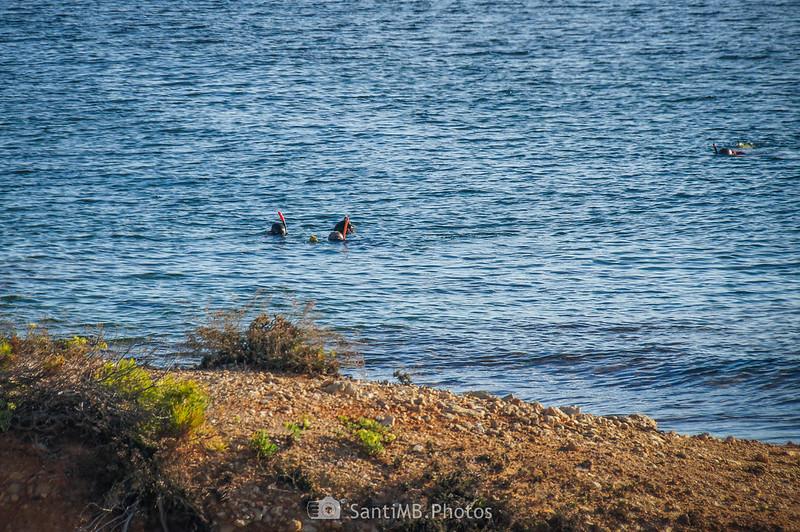 Submarinistas en Els Bufadors