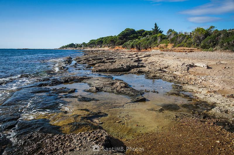 Playas del Perelló desde Els Bufadors