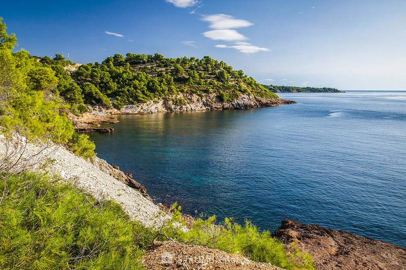 Costa del Perellò y l'Ametlla de Mar a la altura de Mas de Cavaller