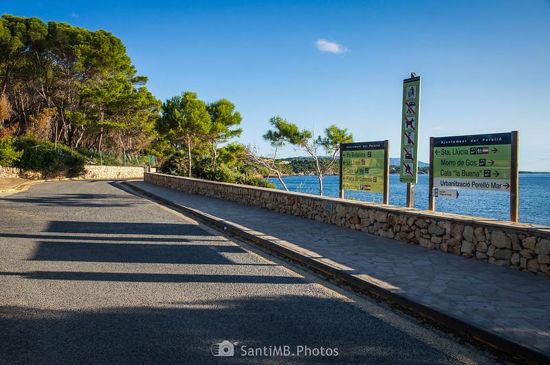 Indicaciones frente a la playa de Santa Llúcia del Perelló