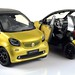 NOREV 1/18 SMART FORTWO CABRIOLET 2015 YELLOW/BLACK 1:18