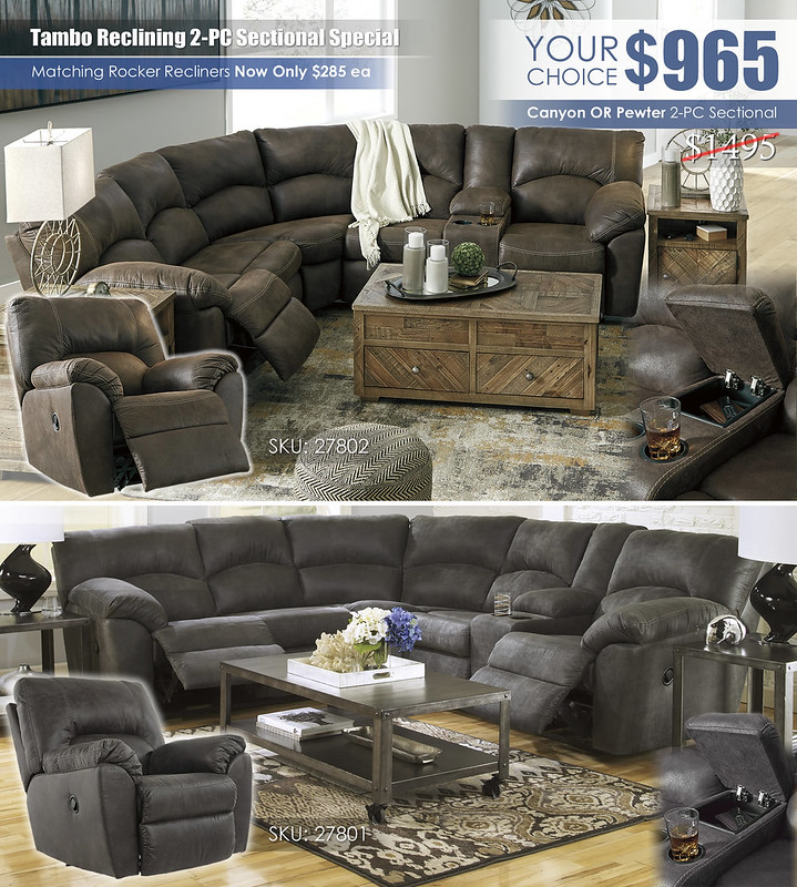 Tambo 2PC Sectional Your Choice_Clearance_27802_27801