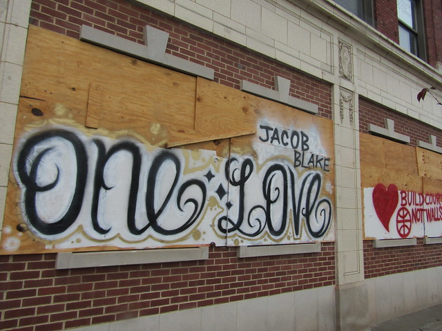 "Schwartz building - ""Jacob Blake, ONE LOVE"""