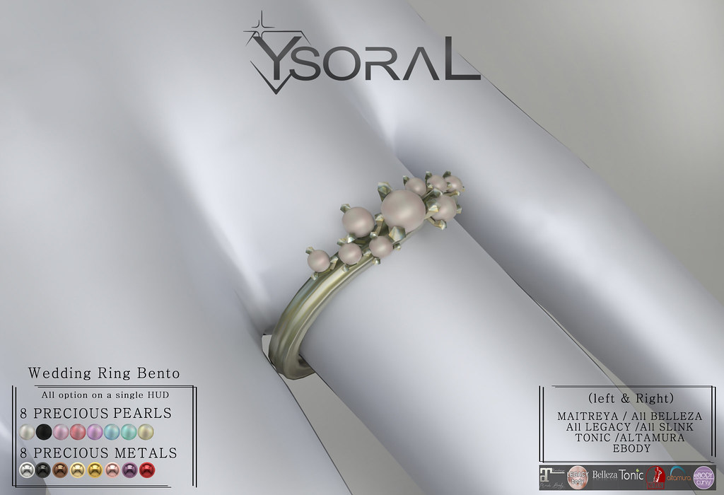 ~~ Ysoral ~~ .:Luxe Wedding Ring Coline :.(BENTO RING)