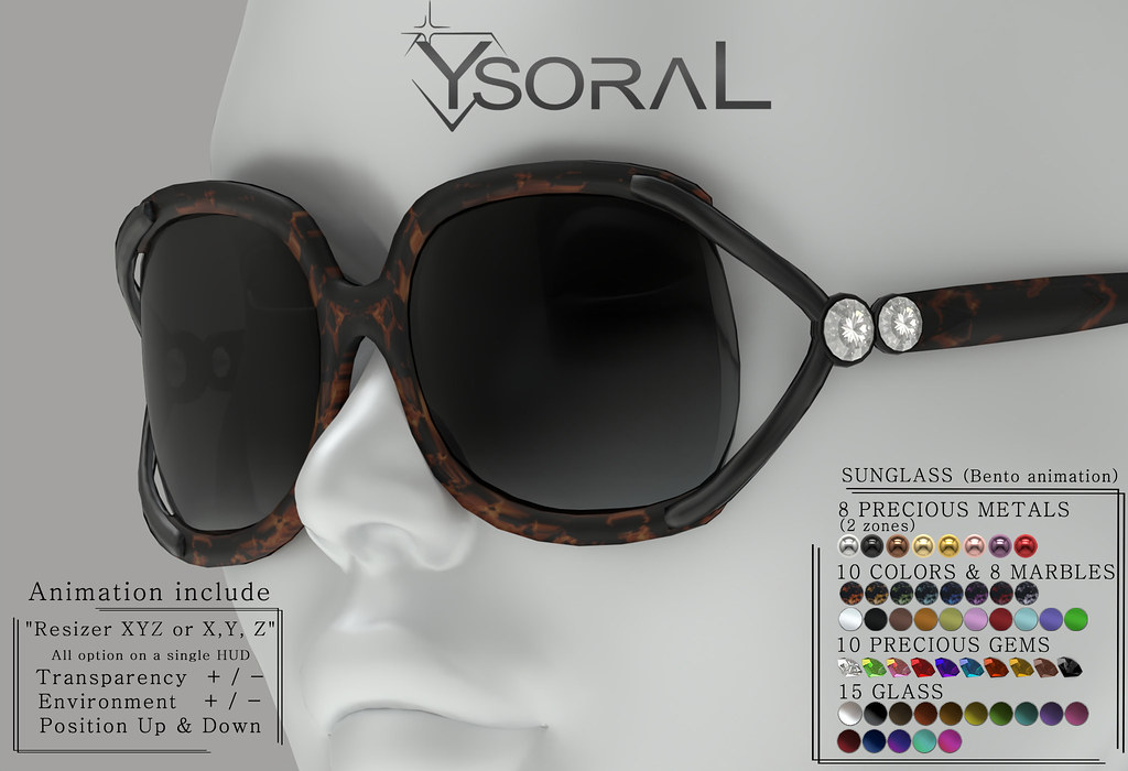 ~~ Ysoral ~~ .:Luxe sunglasses Laury :.(ANIMATION BENTO)