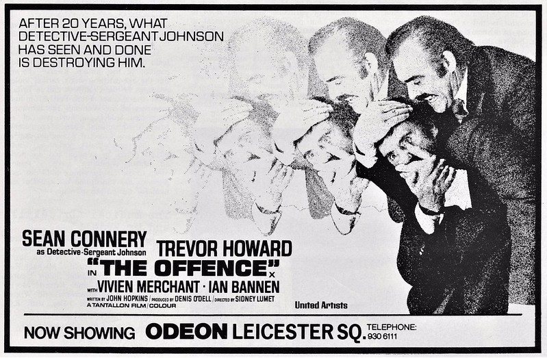 Poster UK du film The Offence (Sidney Lumet, 1972)