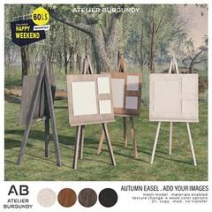 Atelier Burgundy . Autumn Easel Add Images HW