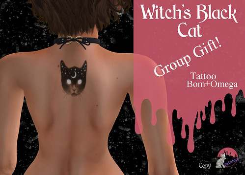 Group GIFT - Witch's Black Cat Tattoo