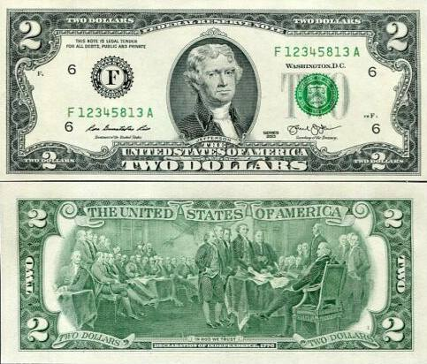 2 americké doláre USA 2013 F, Jefferson P538aF