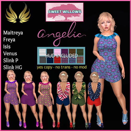 (SW) Angelic Dress & HUD Fab Free Gift