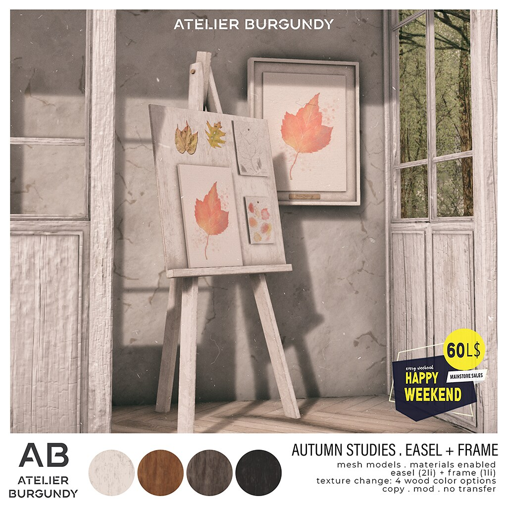 Atelier Burgundy . Autumn Studies HW