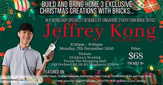 Spreading the joy of the brick this festive season! Come join @artisanbricks for some brick-building fun in the heart of town in this #Christmas #workshop, where I share my creative process with adult builders. The class size is kept small to ensure safe | by www.artisanbricks.com