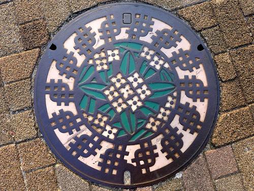 Tanashi Tokyo, manhole cover (東京都田無市のマンホール)