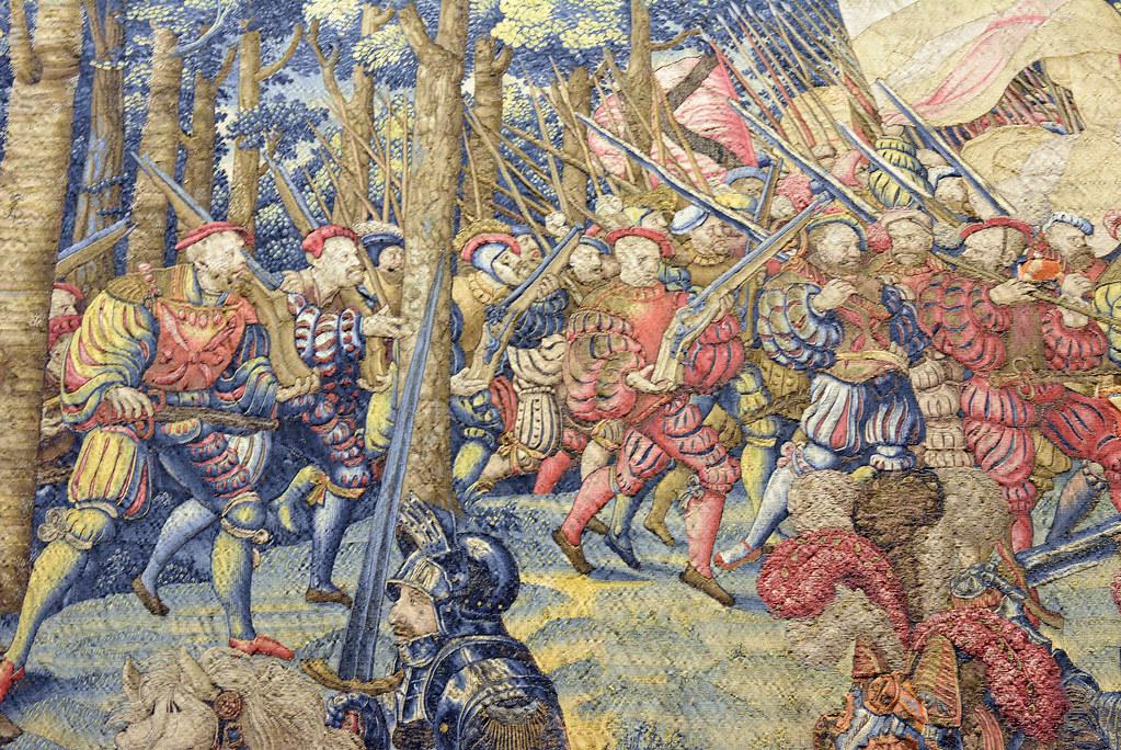 Вторжение во французский лагерь и побег женщин и мирных жителей после Франциска  Бернарда ван Орлея