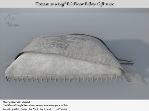 """.:Tm:.Creation Group Gift """"Dream is a big"""" PG Pillow Gift 11-20"""