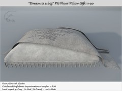 """.:Tm:.Creation Gift """"Dream is a big"""" PG Pillow Gift 11-20"""
