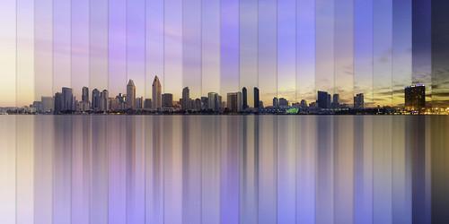 sandiego sunrise colors cityscape skyline sd west coast california timelapse
