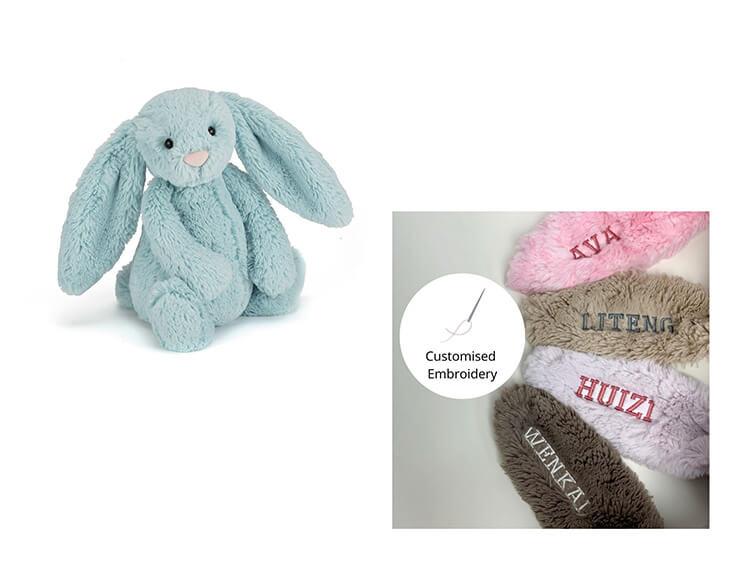 kelinci mewah mainan lunak yang dapat disesuaikan