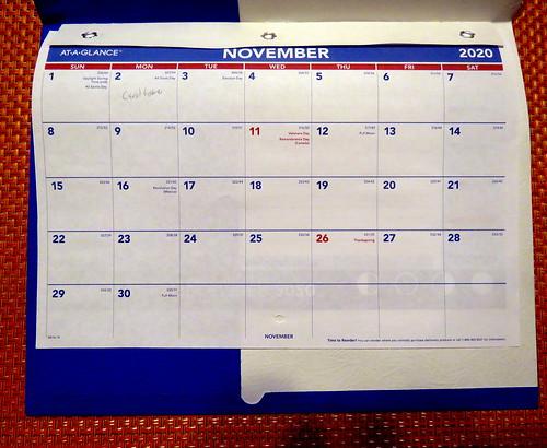 November 2020 Diary