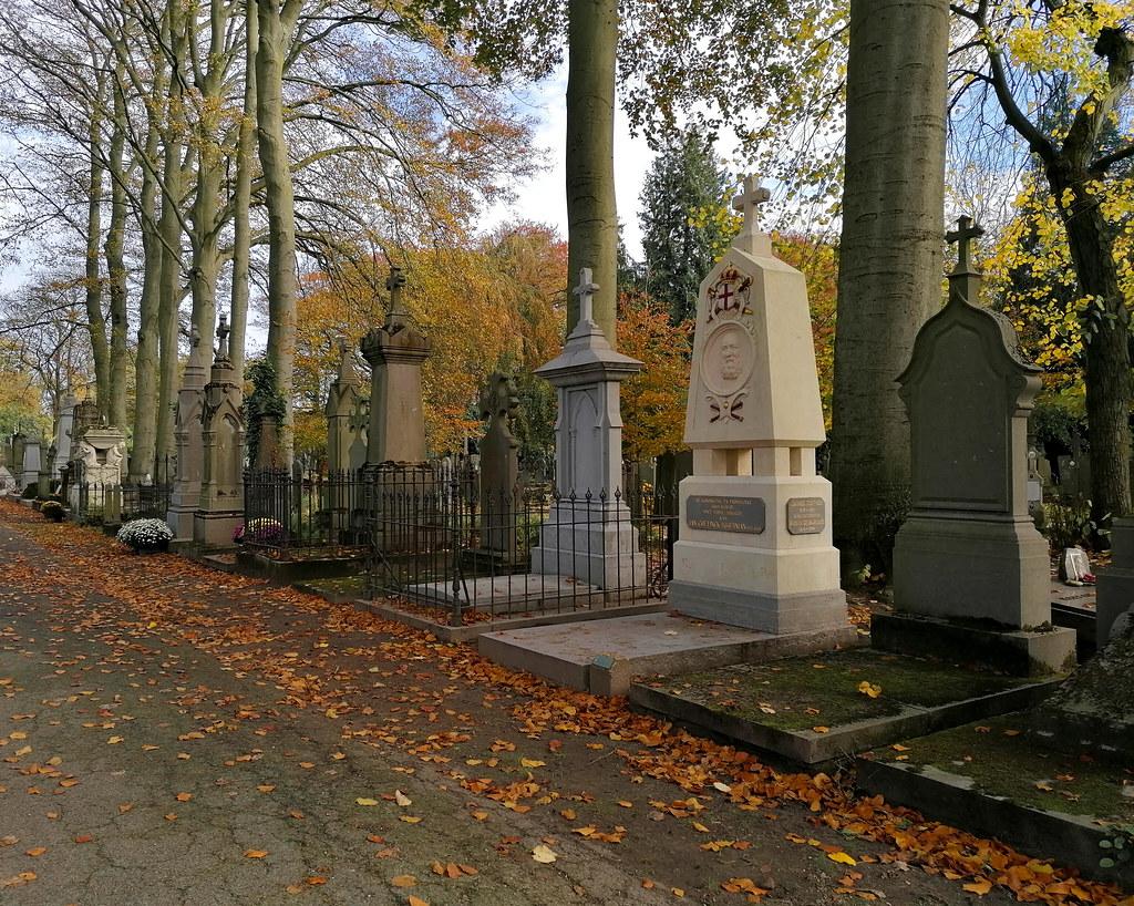 Uno de los caminos del Cementerio Central de Brujas
