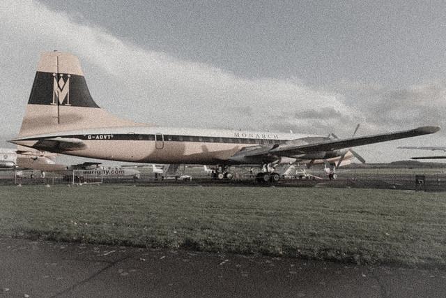 G-OAVT Monarch Airlines Bristol Britannia 312 Duxford Imperial War Museum