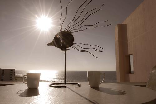 florida destin morning coffee beach gulfofmexico coffeecups condo sun sunrise gulfcoast