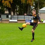 Harvey Taylor take the ball down