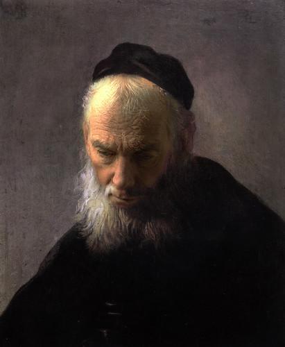 self portrait/selfie: after 'Head of an Old Man  in a Cap'