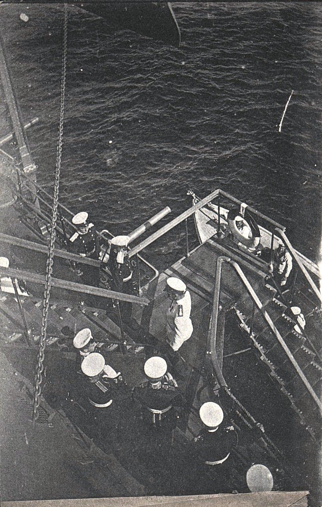20. Посещение Николаем II линейного корабля «Слава»