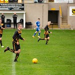 Harvey Taylor starts an attack from the back