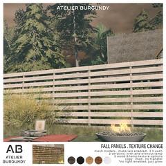 Atelier Burgundy . Fall Panel